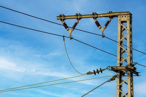 High Voltage, Electricity, Power Pole