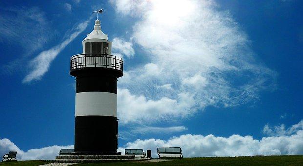 Lighthouse, Coast, Kleiner Preuße, Beacon, Architecture
