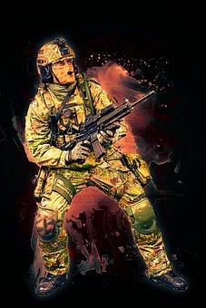 Soldier, Fighter, War, Battle, Man, Male, Uniform