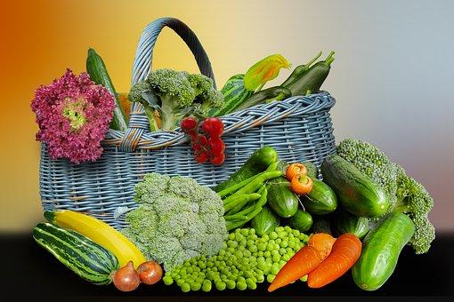 Vegetables, Harvest, Broccoli, Zucchini, Cucumbers