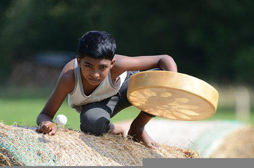 Boy, Drum, Indian, Child, Portrait, Kid, Young