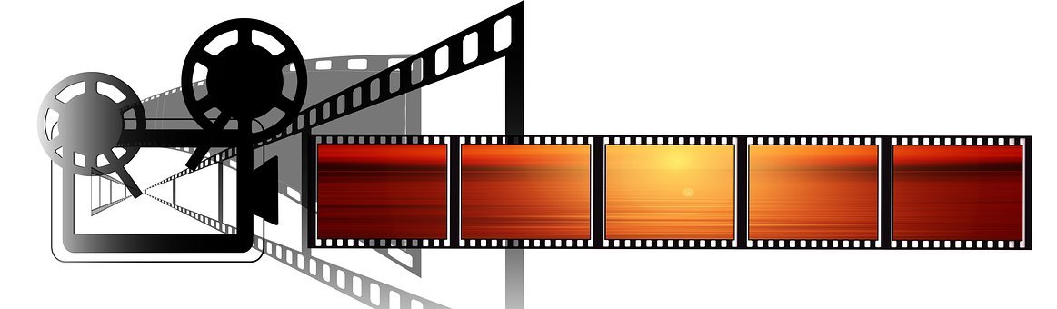 Projector, Filmstrip, Sunset, Projection