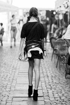 Street, Woman, Walking, Fashion, Casualwear, Urban