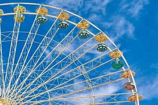 Ferris Wheel, Amusement Ride, Entertainment, Fun, Trip