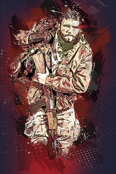 Soldier, Fighter, War, Army, Military, Weapon, Uniform