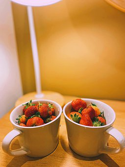 Strawberry, Fruits, Cups, Berry, Food, Organic, Healthy