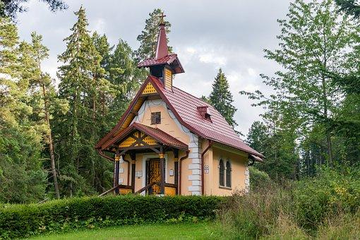 Church, Chapel, Flowerbed, Building, Facade