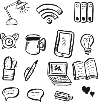 Office, Business, Icon, Drawing, Symbol, Sign, Phone