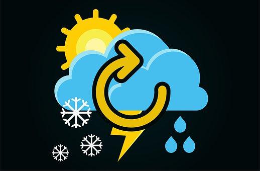 Weather, Sun, Rain, Snowfall, Change, Thunder, Storm