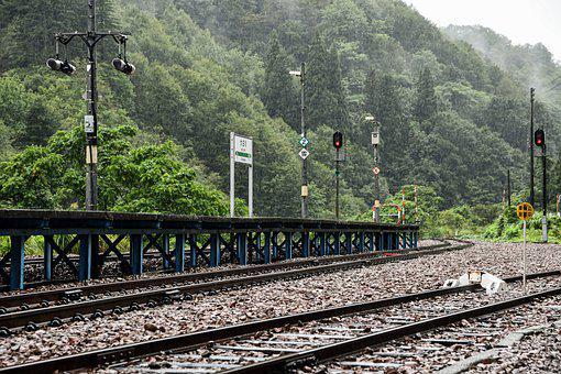 Train Station, Railway, Railroad, Countryside