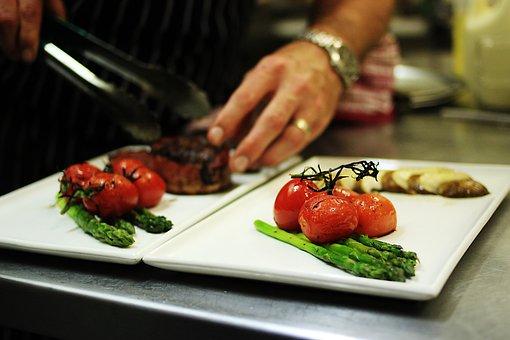 Food Preparation, Gourmet, Chef, Tomatoes, Asparagus