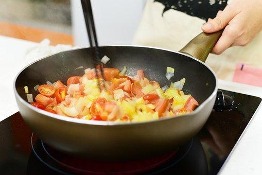 Cooking, Vegetables, Tomatoes, Kitchen, Onion, Tomato