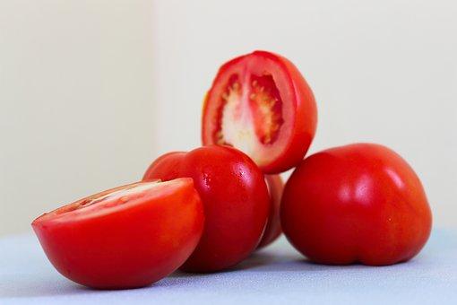 Tomatoes, Vegetables, Food, Sliced, Fresh, Healthy