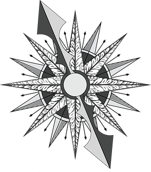 Compass, Direction, North, South, East, West, Geometric