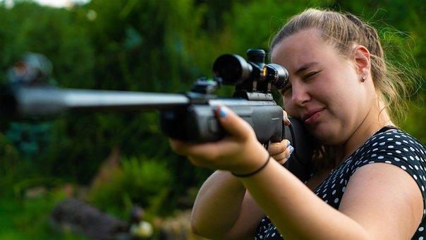 Woman, Weapon, Gun, Aim, Girl, Shoot