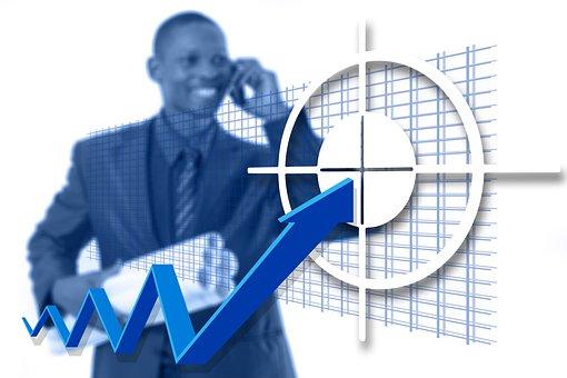 Businessman, Target, Concept, Success, Man, Business