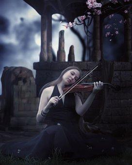 Woman, Violin, Music, Talent, Skill, Melody, Instrument