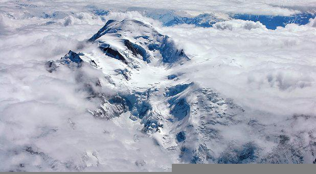 Mountain, Summit, Snow, Clouds, Monte Bianco, Ice
