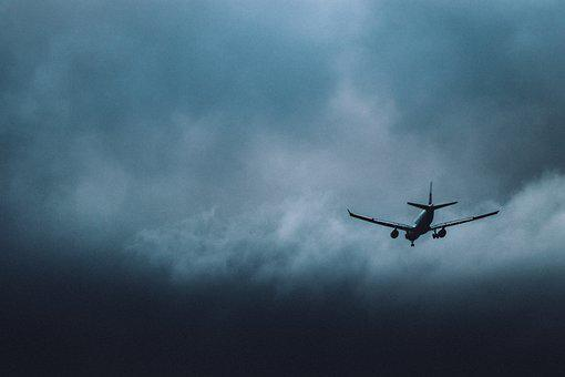 Plane, Airplane, Storm Clouds, Aircraft, Sky, Clouds