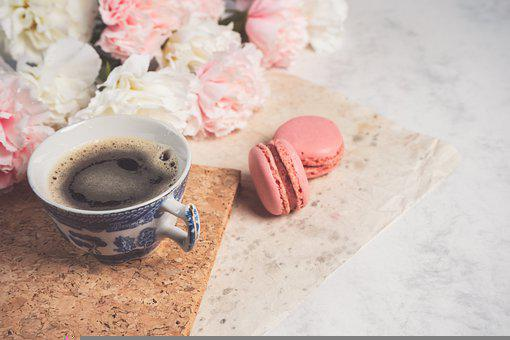 Coffee, Macarons, Pastry, French Macaroons, Dessert