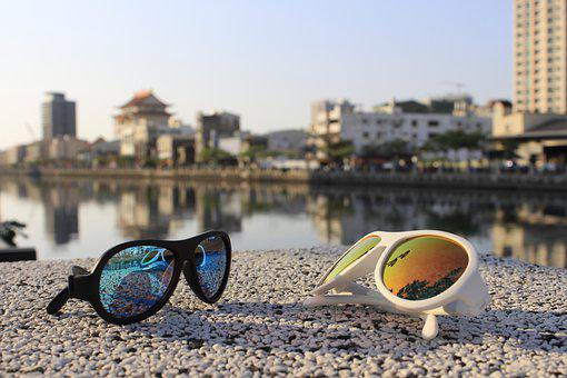 Sunglasses, Reflection, Riverside, Glasses, Fashion