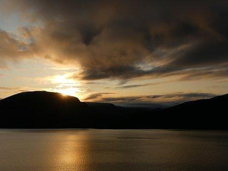 Seascape, Nature, Norway, Waters, Lake, Sunset, Heaven