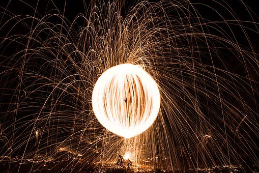 Orb, Fire, Spin, Ball, Hot, Light, Burn, Yellow, Flame