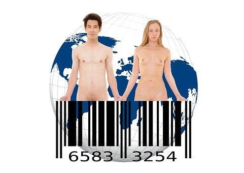 Bar Code, Barcode, Scan Lines, Goods, Earth, Globe