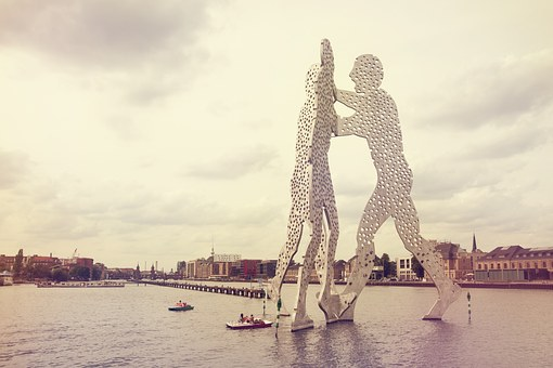 Molecule Man, Spree, River, Berlin, Sculpture