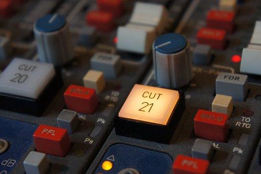 Knob, Buttons, Sound Studo, Mixing, Console, Desk