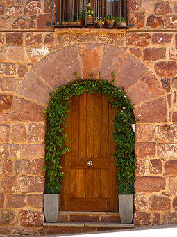 Door, Arch, Carved Stone, Prades, Popular Architecture