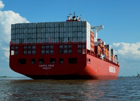 Elbe, Container Ship, Navigation, Freighter, Romance