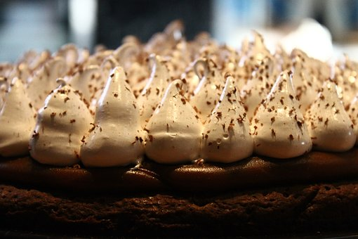 Brownie, Pie, Cake, Cream, Dulce De Leche, Baked, Fresh