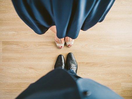 Dancing, Woman, Man, Feet, Floor, Young, Adult, Sexy
