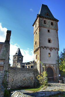 Darmstadt, Hesse, Germany, Mühltal, Burg Frankenstein