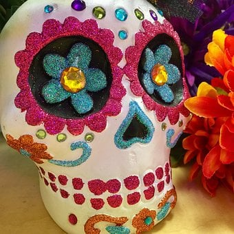 Calavera, Skull, Day Of The Dead, Dia De Muertos