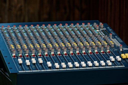Mixer, Music, Controller, Desk, Sound, Slider, Audio