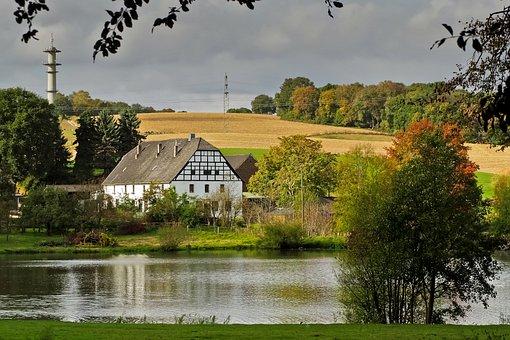 Landscape, Farmhouse, Agriculture, Nature, Rural