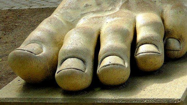 Foot, Sculpture, Stone, Ten, Art, Barefoot, Fig, Feet