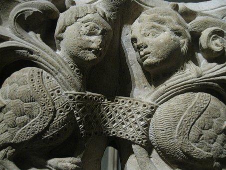 France, Paris, Musee De Cluny, Romanesque, Relief