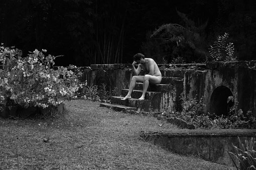 France, Reunion Island, Garden, Stone Staircase