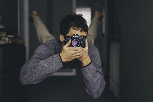 Man, Photo, Camera, Click, Snap, Arms, Legs, Hands