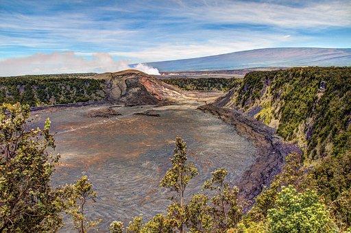 Kilauea Iki Crater, Hawaii, Hdr, Big Island