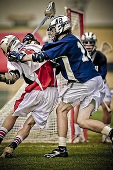 Lacrosse, Hitting, Player, Clash, Athletic, Compete