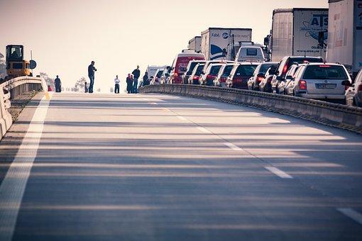 Highway, Jam, Traffic, Pkw, Autos, Vehicles, Road