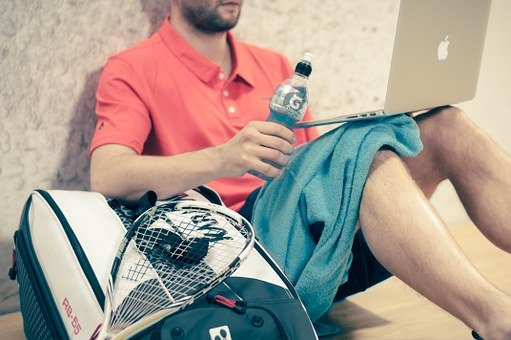 Squash, Sport, Man, Game, Racket, Ball, Fitness