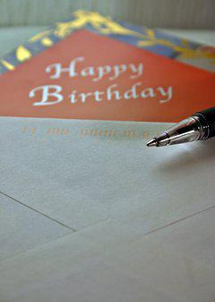 Birthday Card, Map, Birthday, Leave, Pen, Greeting