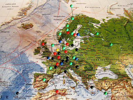 Experienced Travel Destinations, Map Of Europe, Map