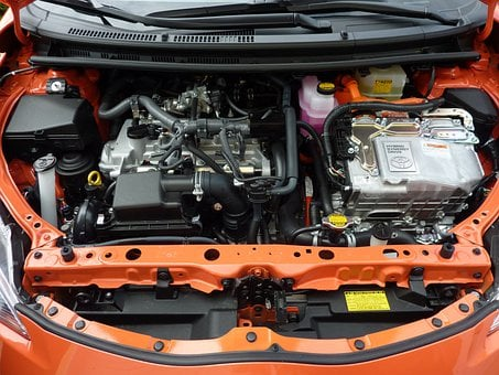 Car Engine, Prius C, Motor, Car, Automobile