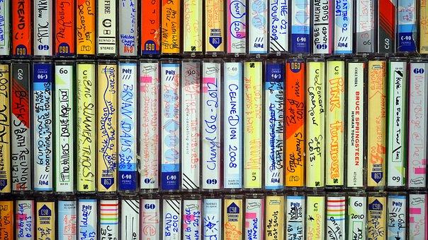 Cassette, Tape, Music, Vintage, 1980s, 70s, Hi-fi